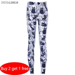 0c65e46c2f77d Plus Size Patterned Leggings NZ - 2018 Printed Sexy Female Leggings  Halloween Kitten Pattern Casual Fitness