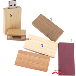 1gb flash Australia - Wood USB Drive 10PCS 1GB 2GB 4GB 8GB 16GB Wooden Memory Flash Pendrive Sticks 2.0 True Storage Suit for Customize Logo 5 Colors Options