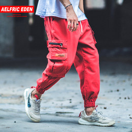 camouflage pants fashion NZ - Aelfric Eden Man Jogger Camouflage Side Pockets Loose Style Men's Sweatpants Fashion 2018 High Street Casual Pants 4 Colors B040