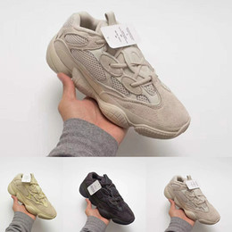 Discount blue moon boots - Top quality mens shoes 500 Blush Desert Rat 500 Super Moon Yellow running shoes 500 Utility Black sneaker sports shoes