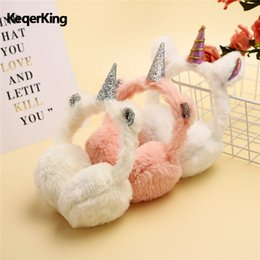 Chinese  Fashion Winter Lovely Thicken Plush unicorn Earmuffs New High Quality Solid Color Kids Ear Warmer New Child Ear Muffs manufacturers