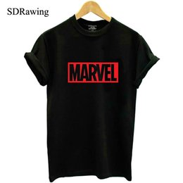 $enCountryForm.capitalKeyWord Canada - NEW 2018 MARVEL t Shirt woman cotton short sleeves Casual male tshirt marvel shirts tops Graphic Tees plus size