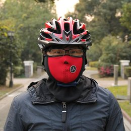 low veils NZ - Bicycle Cycling Motorcycle Half Face Mask Winter Warm Outdoor Sport Ski Mask Ride Bike Cap CS Mask Neoprene Snowboard Neck Veil