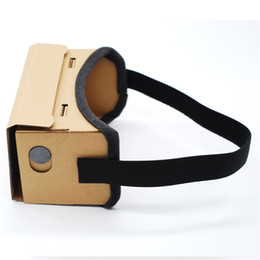Virtual Theater Glasses Canada - Universal DIY Google Cardboard 3D Glasses Virtual Reality Glasses Vr Box 3d Glass Private Theater For 4-6Inch Smartphone IOS