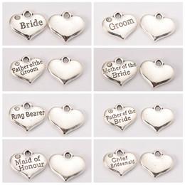 $enCountryForm.capitalKeyWord NZ - Wedding Alloy Metal Theme Antique Silver Ceremony Word Tibetan Style Heart Bride Groom Jewelry Rhinestone Charms Pendant Crystal