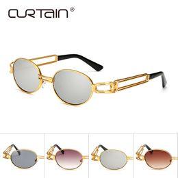374537bd9c4a Hip Hop Retro Small Round Sunglasses Women Vintage Steampunk Sunglasses Men  Gold sun Glasses for women Frame Eyewear Oculo UV400
