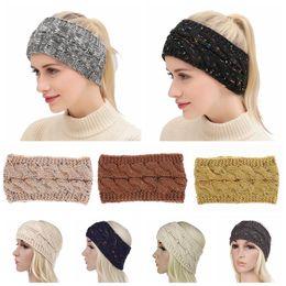 China Knitted Headbands 21 Colors Crochet Twist Headwear Turban Winter Ear Warmer Headwrap Elastic Hair Band Women Hair Accessories 100 OOA5765 cheap skull hair bands suppliers