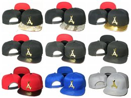 alumni caps 2020 - THA Alumni Snapback Dad Hats For Women metal gold logo A letter Baseball Cap Men Bone Casquette Sun Visor Hat Cap Hip Ho