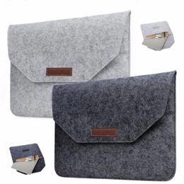 Hp Laptop Wholesalers Australia - Laptop Bag Macbook 11 12 13 15 inch Air Pro Retina Felt Bag Cover Sleeve Briefcase For Notebook Mac Pro Acer Asus Dell Lenovo HP opp bag
