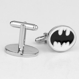 Superhero Shirts Wholesale Australia - dongsheng Movie Superhero Jewelry Black Batman Men's Shirt Cufflink French Badge Pins Button Cufflink -40