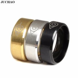 Discount naruto ring - Classic Ring Stainless Steel Black Movie Surrounding Naruto Ring 2018