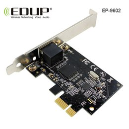 wireless pci e adapter Canada - EDUP Pci-e Gigabit Ethernet Network Card Adapter 10 100 1000Mbps Hign Speed Pci-e Gigabit Ethernet LAN Card Network Adapter