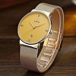 $enCountryForm.capitalKeyWord Canada - Fashion watches for men Simple Quartz Watch Business Casual Watch Stainless Steel Mesh Belt Wrist Watch Unique 30 m Waterproof