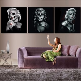 black white canvas wall prints NZ - Poster Modern Home Wall Decoration Modular Picture 3 Pieces Black And White Marilyn Art HD Print Painting On Canvas Artworks