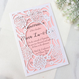 Shop invitation printing paper wholesale uk invitation printing wedding bouquets invitation card personalized printing laser cut hollow invitation paper with envelop multi colors free ship stopboris Image collections