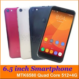 Wholesale 6 quot big screen Quad Core G smart Android phone MTK6580 GB Dual SIM Camera MP WCDMA Unlocked Mobile gesture F7 Plus