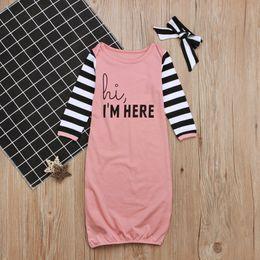 be2517556f Winter Girls Bag NZ - Baby Swaddle Sleeping Bags Sack Headband Fashion  Pajamas Kids Clothing Winter