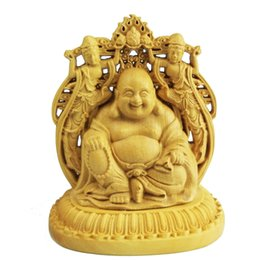 Carved Wood Gifts Australia - Buddhism Double sided Car furnishing articles handicraft wood arts crafts Souvenir Home furnishings gift handmade gift