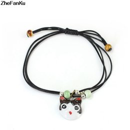 $enCountryForm.capitalKeyWord NZ - New Arrival Hand Painted Japanese Cheese Cat Design Ceramic Bracelet Jewelry Cute Cartoon Animal Bracelet