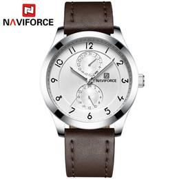$enCountryForm.capitalKeyWord NZ - NAVIFORCE Luxury Business Men's Watches Auto Date 24 Hours Quartz Watch Men Sport Leather Waterproof Wrist watches relogio