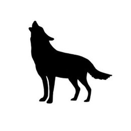 Wall stickers Wolves online shopping - New Arrival Husky Siberian Howling Wolf Wall Sticker wall mounted light switch Decor sticker