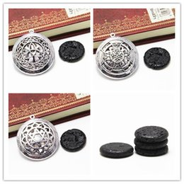 Tree knoTs online shopping - 1pc Lava Stone Essential Oil Diffuser necklace Life tree Celtic Knot Locket pendant Aromatherapy Gift