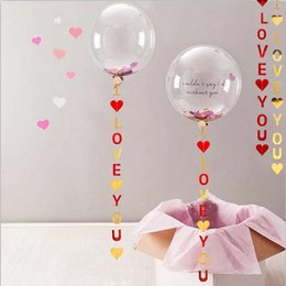 Wholesale I LOVE YOU Banner Bunting Garland Wedding Engagement Anniversary Marriage Proposal Decor Bridal Shower Supplies QW8359