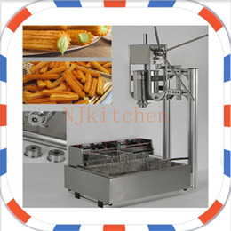 online shopping Commercial Use electric L churros press machine L churros fryer come with Hollow and solid nozzles
