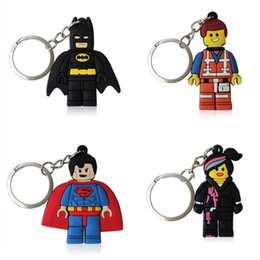 cool keychains 2019 - Super Hero Figure High Quality Cool Cartoon PVC Keychain Key Ring Bag Anime Fashion Accessories Packed Kawaii Party Favo