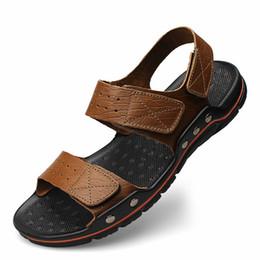 34cdc0c57cf5d4 Euro38-48 Summer Sandals Men 2017 New Fashion Sandalias hombre Beach Shoes  Men s Sandals Genuine Leather Sandals For Men Zapatos