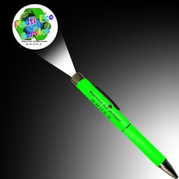 Logo Promotional Gift NZ - LED laser LOGO projection pens Cartoon projection ballpoint pen with LOGO and some text print for promotional Advertising gifts