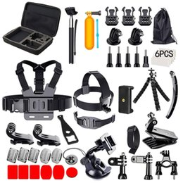Wholesale 51 in Acessories Bundle Sports Kit Combo for GoPro with Selfie Stick Float Sponge Handlebar Mount Three Way Adjusting Arm More
