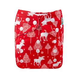 christmas cloth diapers 2019 - 2018 Christmas Day Theme Cloth Diaper Alvababy Reusable Cloth Nappy for Baby with 1pc Microfiber Insert discount christm