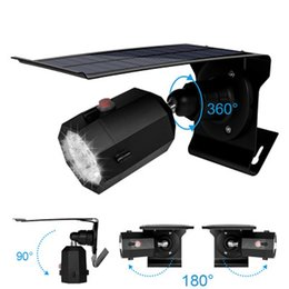 solar camera outdoor Canada - New Solar Powered Simulation Camera Light 10 LEDS 500LM Motion Sensor Wall Light Outdoor Waterproof Energy Saving Lamp Street Yard Path