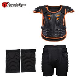 $enCountryForm.capitalKeyWord Australia - HEROBIKER Motorcycle protect kids motocross body armor gear for Junior racing practise with knee and shorts protectors together