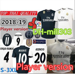18 19 Player version Real madrid home soccer jersey 2018 2019 top thai  quality MARIANO MODRIC BALE ASENSIO MARCELO ISCO away Football shirt 6e9305a3e
