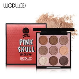 $enCountryForm.capitalKeyWord UK - Brand 9 Colour Pink Skull Eyeshadow Makeup Palette Shimmer Matte Heart-shaped Pigmented Eye Shadow Cosmeic Nude Eyes Set#