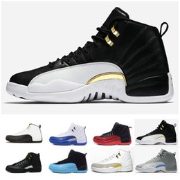 5570051eb5e58b Top Quality 12 Taxi Basketball Shoes For men 3M reflective OVO White Gym  Red Dark Grey 4s Cheap Classic Sports Sneakers US 7-13