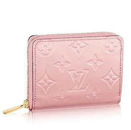 Cotton Key Australia - M61231 ZIPPY COIN PURSE Patent leather pink Real Caviar Lambskin Chain Flap Bag LONG CHAIN WALLETS KEY CARD HOLDERS PURSE CLUTCHES EVENING