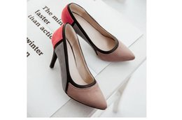 $enCountryForm.capitalKeyWord Canada - 2018 New list spell color stiletto high heel pointed low women shoes shallow mouth single work shoes