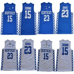 0336d7200fc ... discount kentucky jerseys ncaa kentucky wildcats 23 anthony davis 0 demarcus  cousins white blue blac