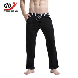 брюки для пижамы оптовых-WJ Men Home Pants Pajamas Sleepwear Pyjamas Men Winter Pajama Pants Mens Pyjama Sheer Cotton Bottoms Solid
