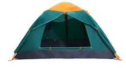 outdoor pole NZ - Camping Tent Double Double Aluminum Pole Tent Four Seasons Outdoor Camping Tents