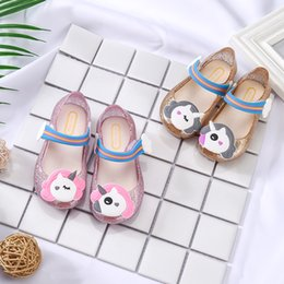 SandalS lighting online shopping - Children Summer Thickening Sandals Kids Little Mary Led Light Shoes Cartoon Unicorn Soft Rainbow Shoes Beach Cool Sandal Pink Gold rx Ww