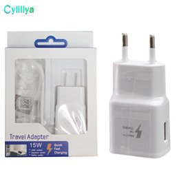 Charger Samsung Quality Australia - 100% Fast Charging US EU Travel Wall Charger + 1.5M Micro Usb Cable For Samsung S6 S7 Edge Note 4 5 Wit Original Quality 2 in 1 15W