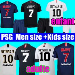 Thailand kids soccer jersey Sets uniform maillots psg aJ 3rd Soccer jerseys  2019 Maillot de foot MBAPPE champions Jersey 18 19 football kits 1a65af23a