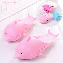 $enCountryForm.capitalKeyWord Australia - 4 Colors Dolphin Flip Flops Love Sandals Pink Letter kids slippers Shoes Summer Soft Beach Slipper 2pcs pair T1I564