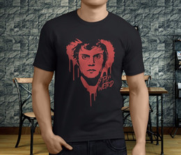 best black tee shirt Canada - New Popular Stay Weird Evan Peters Men's Black T-Shirt S-3XL Round Neck Best Selling Male Natural Cotton Shirt TOP TEE