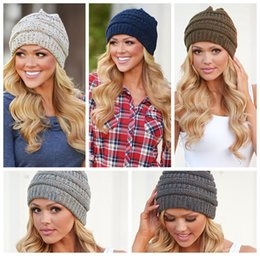 ecf49b2e Winter caps online shopping - Women Knitted Beanie Hat Colors Soft Stretch  Cable Knit Winter Warm