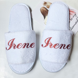 Wholesale Personalized Wedding Slippers Bridesmaid gifts Bride Hen Night Bachelorette party gift 1 pairs lot free shipping